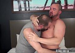 Dicksucking bear fingering hairy hunk