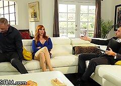 Busty Red Lauren Cucks Hubby with her Sex Therapist