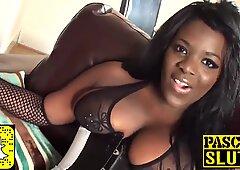 Ebony girl with big tits gets fucked - Black Beauty