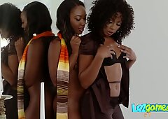 Black lesbian is seduced by her lawyer onto engaging in hot action