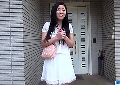Risa Shimizu endures a great dick in her tiny love holes - More at JavHD.net