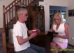 Posing as a Census Taker Ms Paris Gets to Join the Orgy