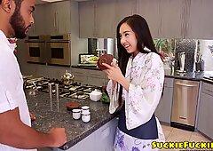 Amateur Japanese babe banged and facialized