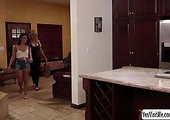 Teen naughty babe Gina Valentina licks her stepmom Brandi Love round big tits - Gina Valentino