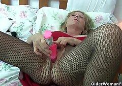 grandma is hooked on masturbation