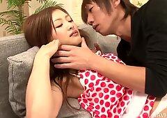 Sexy Japanese girl Suzuka Ishikawa gets her pussy licked