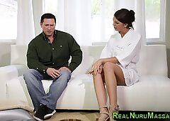 Horny masseuse fucking