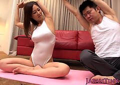 Dicksucking bigtitted Japanese babe titfucked