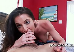 Busty babe anal bangs in reverse cowgirl