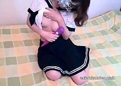 Asian Teen Kiki from Asianhunter.club Sucks &amp_ gets Fucked is her School Uniform