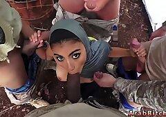 Hot arab wife blowjob facial
