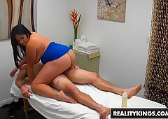 RealityKings lush nymph Jasmine gives a massage and happy finishing to clien