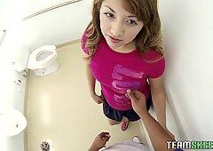 Courtney Loxx toilet POV