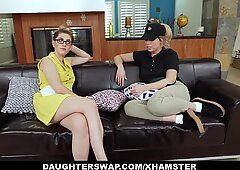 DaughterSwap - Sexy Babes Fuck Dad For Some Cash