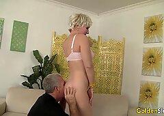 Sexy Grandma Dalny Marga Blows n Bangs