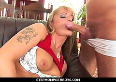 stepmomwithboys - caught my stepmom playing with her tight pussy