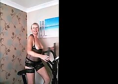 Just Mucking Around On My Cross Trainer With My Loony Husband