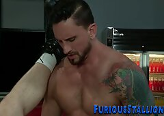 Manly hunk gets plowed