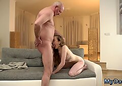 Russian mature seduces young girl first time Russian Language Power