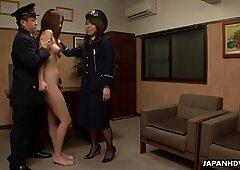 asian nude prisoner heads through a Clockwork Orange treatme