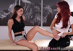Feet massaged lesbian