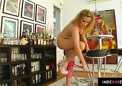 Petra Pearl gets her ass drilled gonzo style in anal scene