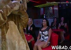 Naked dancing bear