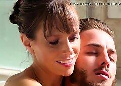 Step mom inborn mammories Help Son Massage Body