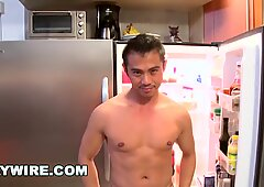 GAYWIRE - My Asian Boyfriend Niko Reeves Loves To Jerk His Cut Cock