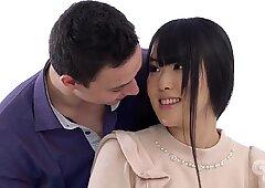 GirlsRimming - Hot teen Japanese cutie Ria May rims her classmate