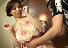 Uncensored voluptuous Japanese Yuko Iijima stripped Subtitled