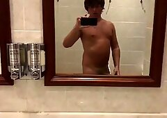 Public Wanking Naughty Naked Tanned Sauna Twink
