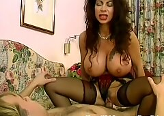 MILF dark haired With yam-sized baps Fucked In Sexy Lingerie