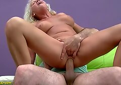 yourporntvzone.com - 16.7% 70 Years Old  Granny Blowjob Fuck