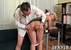 Enchanting darling is satisfying teacher to improve her grades