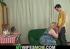 Slim Lad Plays With Her Huge Girlfriends Mommy
