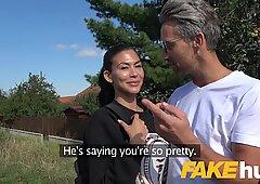 Public Agent Facial hard public fucking for American