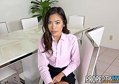 PropertySex - Petite Asian real estate agent takes big cock