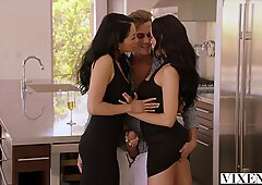 VIXEN Hot Latina Shares Her Boyfriend With Roommate