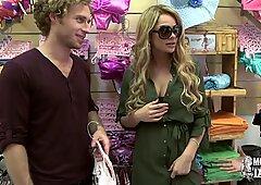 Money chats - swimsuit shopping threeway