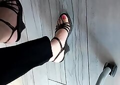 my secretary feet under the table