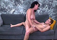 Lesbian home sex with moms and daughters