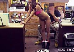 Amateur brunette webcam College Student Banged in my pawn shop!