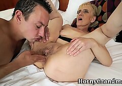 Ass toyed n fucked granny