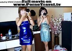 2 Thai party girl for a farang cock