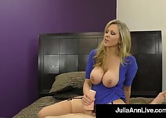 Dominating Cougar Ms. Julia Ann Orders No Cum From Cock!