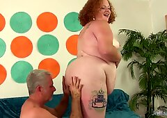 Fat Redhead Scarlett Raven Is Drilled