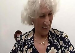 Granny Norma gets a surprise at the gloryhole