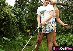 Girls Out West - Dirty hairy lesbians fuck each other