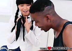 Asian teen jizz black